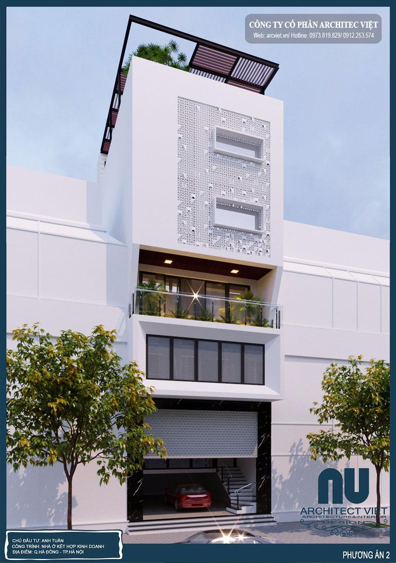 nhà ở 6 tầng mặt tiền 7m kết hợp kinh doanh theo nhu cầu của gia chủ