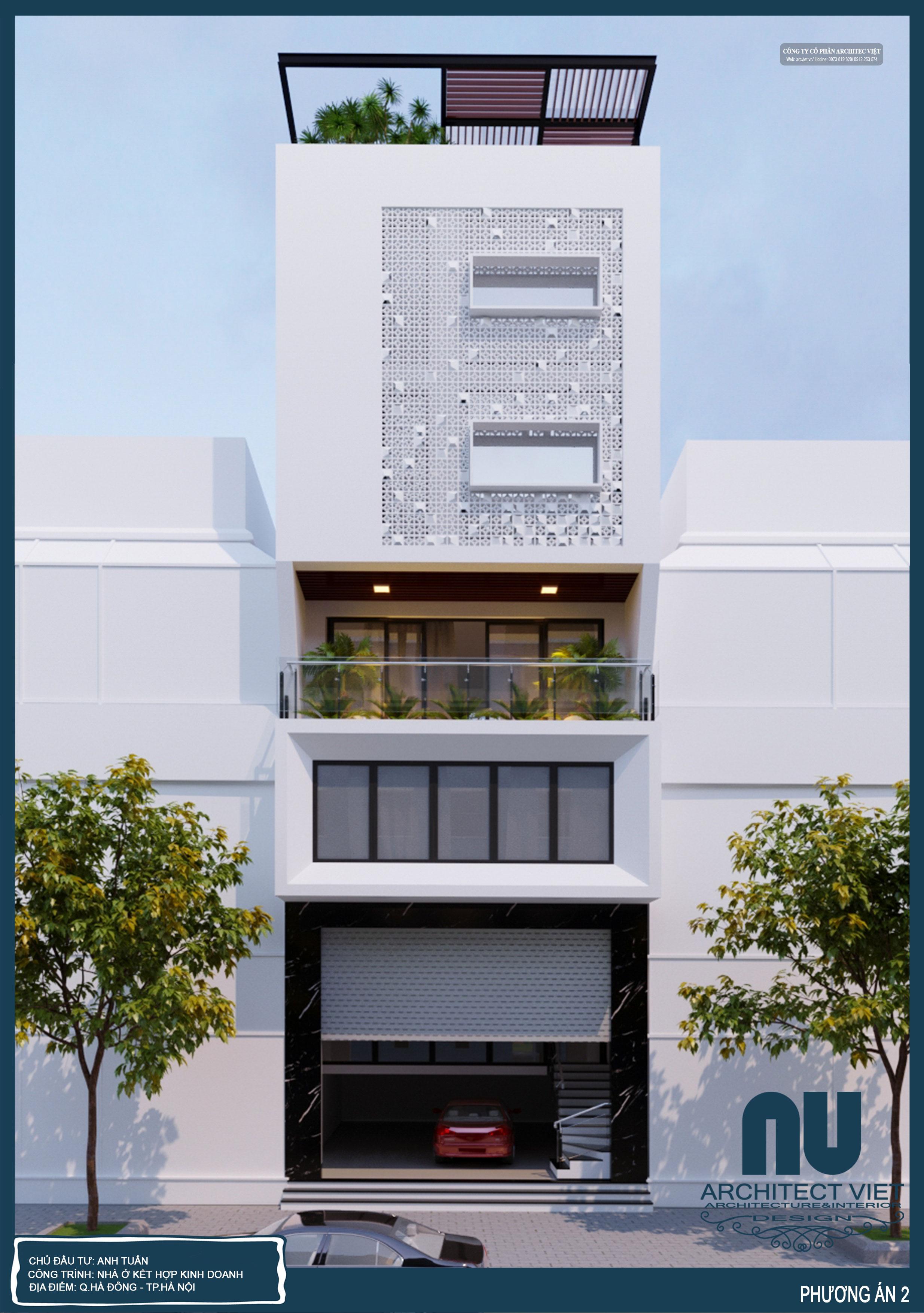 Nhà ở 6 tầng kết hợp kinh doanh