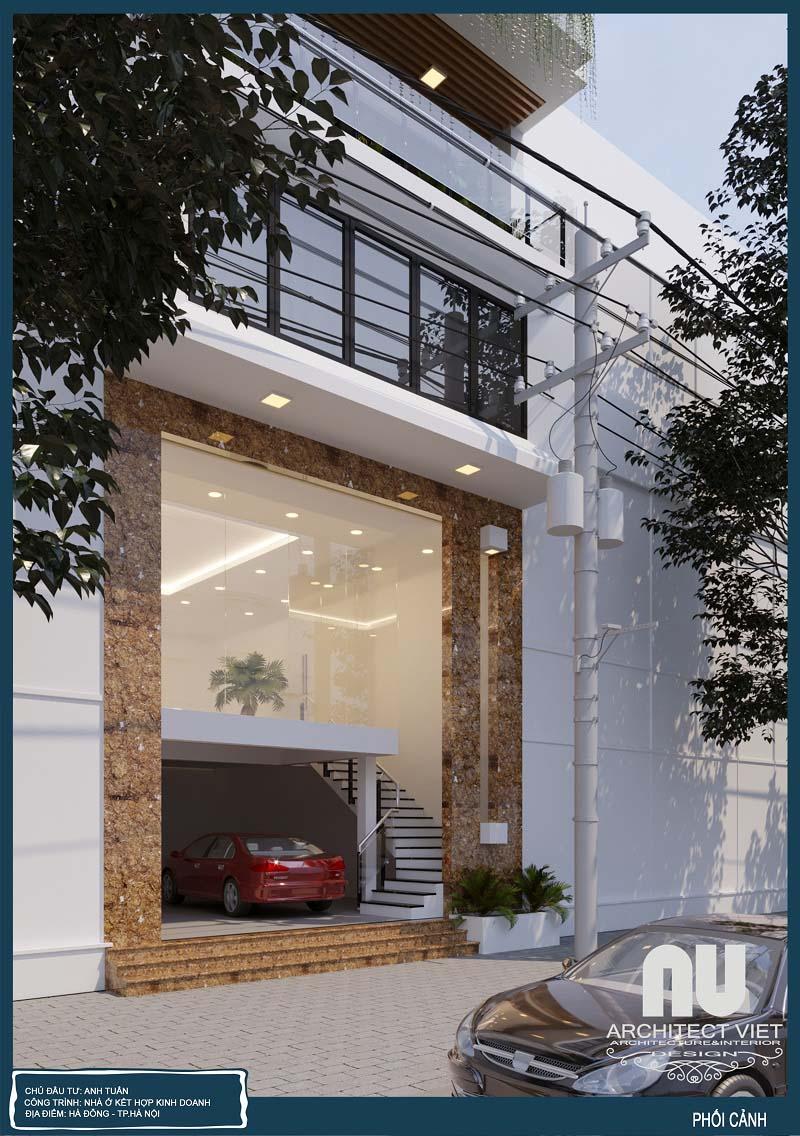 Ý tưởng thiết kế nhà phố hiện đại 7x10m