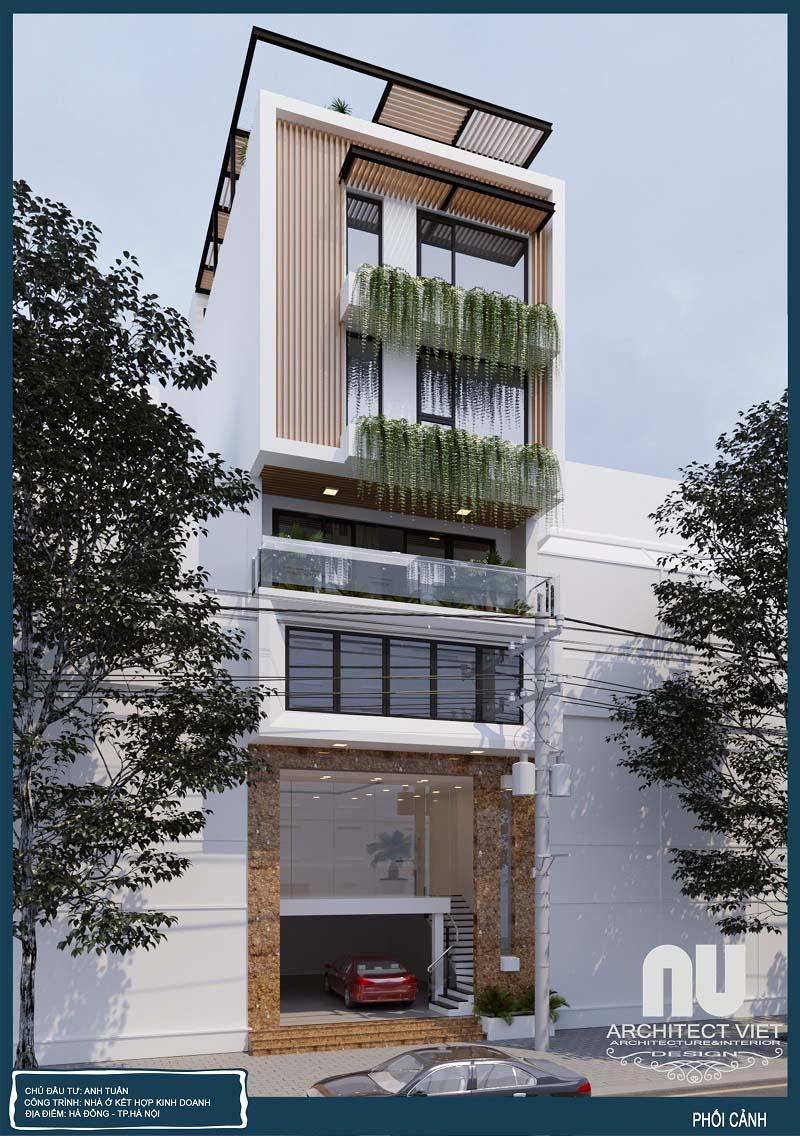 Thiết kế mẫu nhà phố kết hợp kinh doanh 7x10m