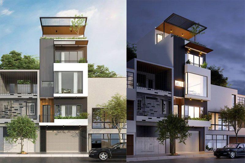 Mẫu thiết kế nhà phố mặt tiền 5m 50m2 kết hợp kinh doanh