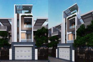 thiết kế nhà phố 4 tầng 4x16m