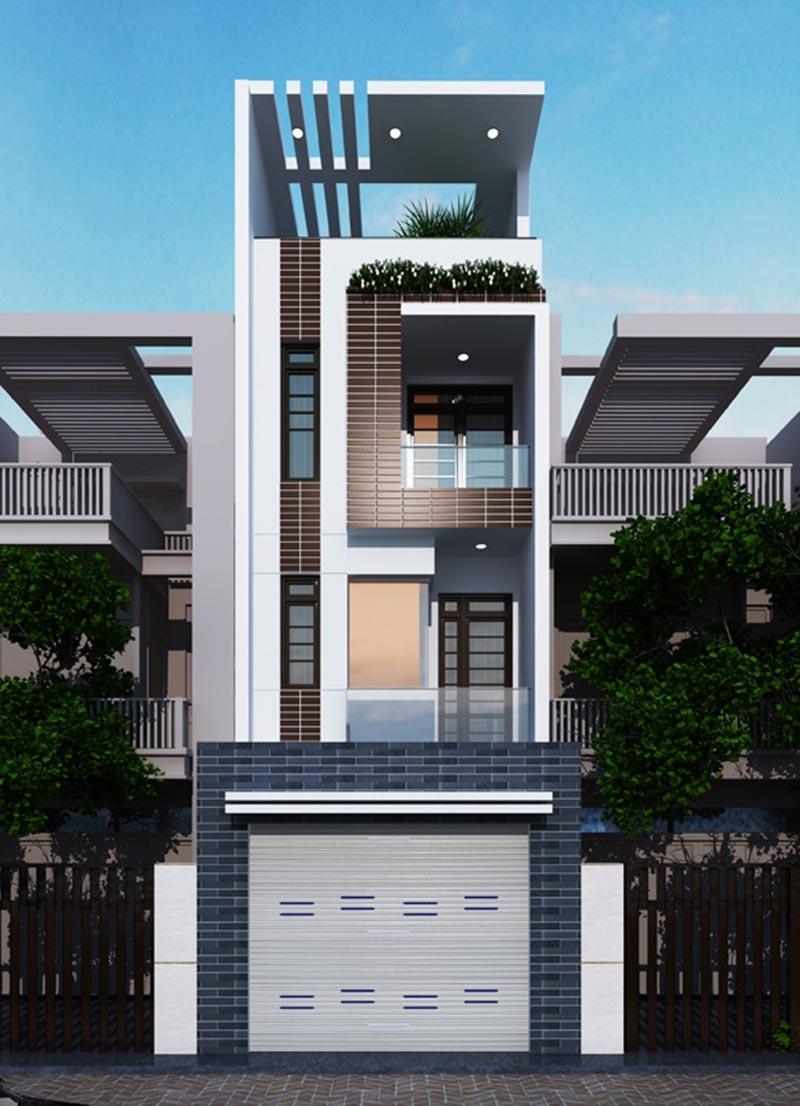 Thông tin chi tiết về thiết kế nhà phố 4 tầng 4x16m
