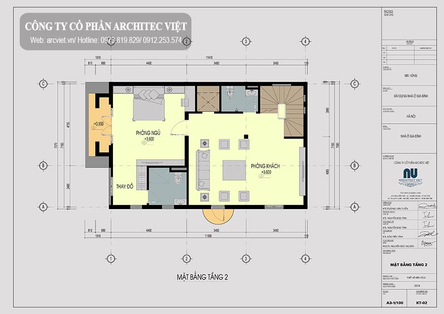 bố trí mặt bằng tầng 1 biệt thự tân cổ điển 135m
