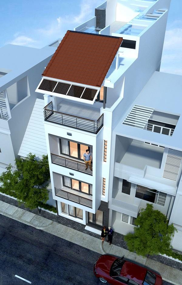 Phối cảnh nhà phố 3,5 tầng mặt tiền 5m