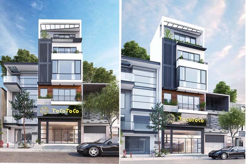 Phối cảnh nhà phố 5 tầng mặt tiền 6,5m