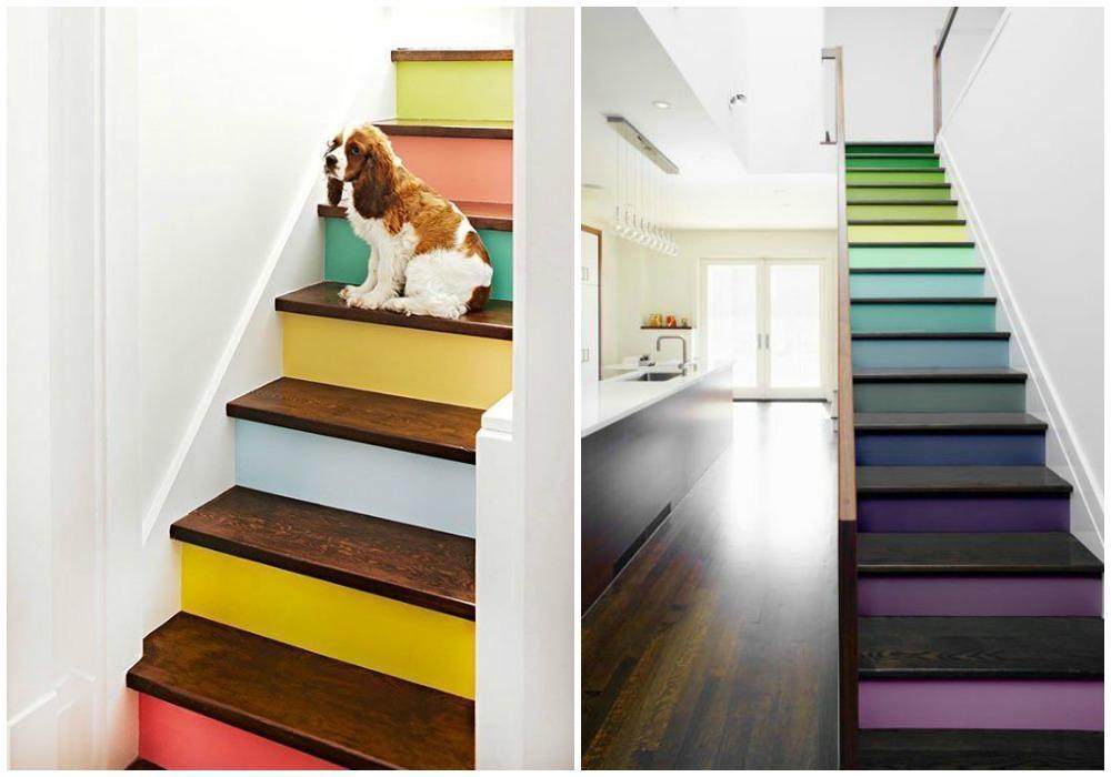 Cách trang trí cầu thang với sơn tường đẹp mắt