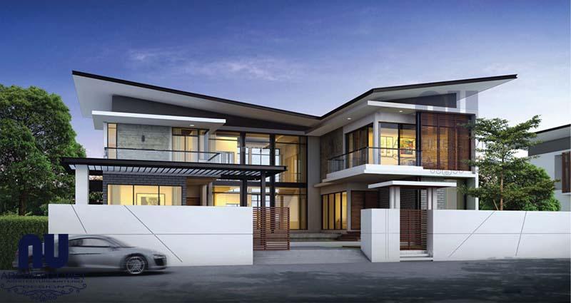 thiết kế biệt thự 2 tầng hiện đại 350m2