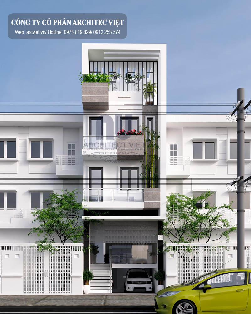nhà phố 3 tầng hiện đại 85m2