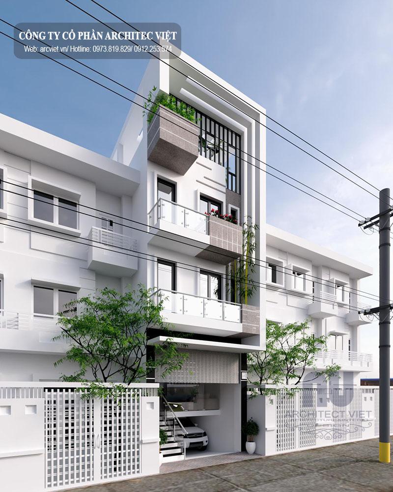 nhà phố 3 tầng hiện đại 85m2 đẹp