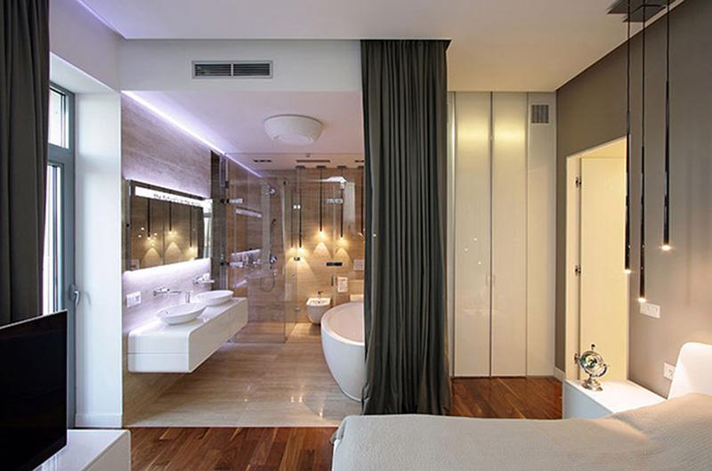 thiết kế phòng ngủ có nhà vệ sinh khép kín