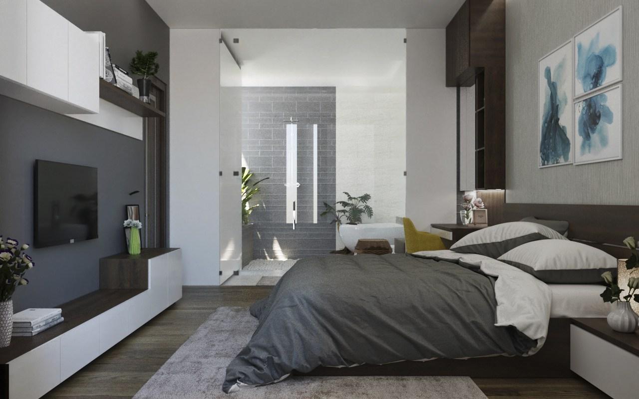 phòng ngủ khép kín tiện nghi
