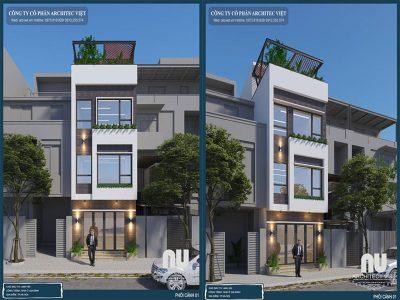 nhà phố 3 tầng 40m2 hiện đại với ngoại thất sang trọng
