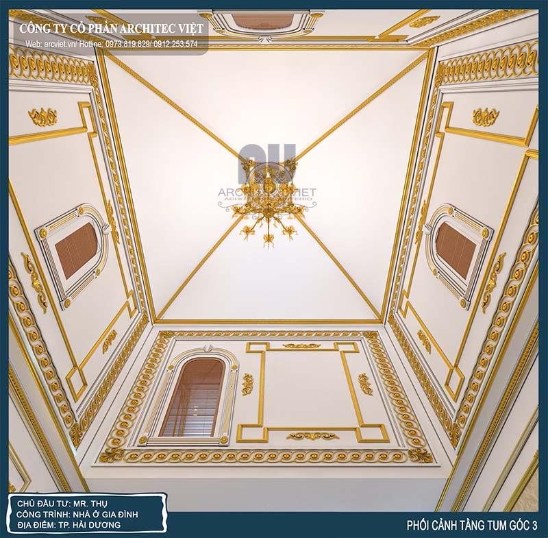 nội thất biệt thự tân cổ điển sang trọng của gia đình anh Thụ