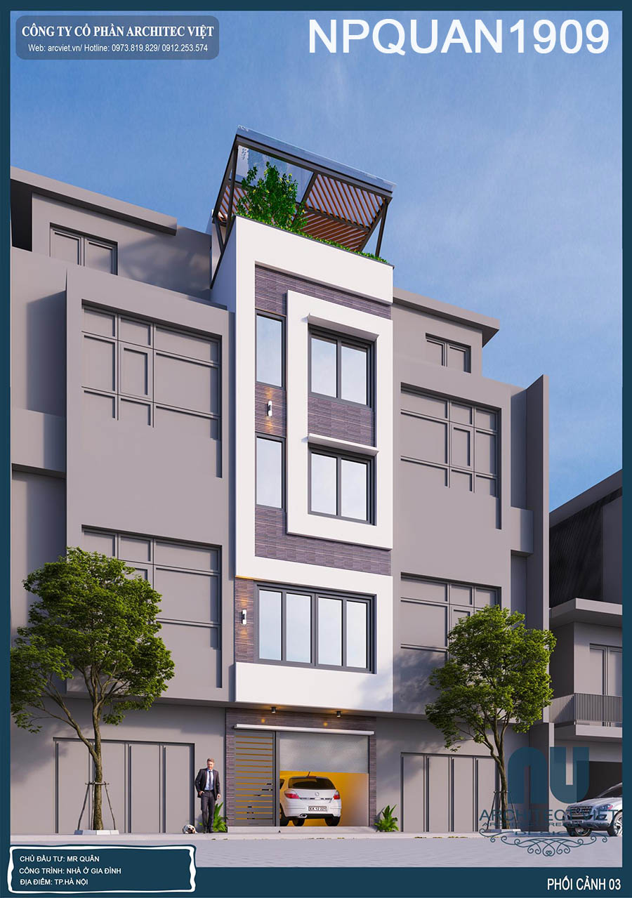 nhà phố 4 tầng mặt tiền 4m 35m2 tiện nghi