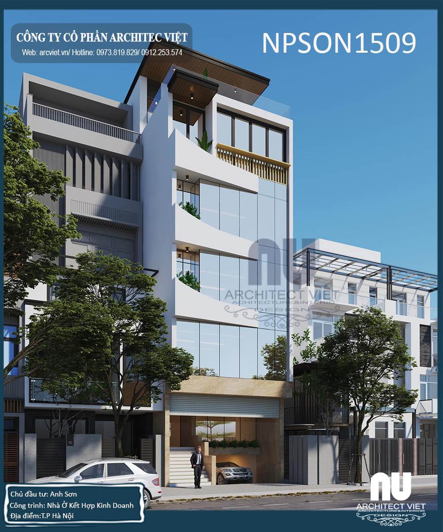 nhà ở kết hợp văn phòng 5 tầng 105m2