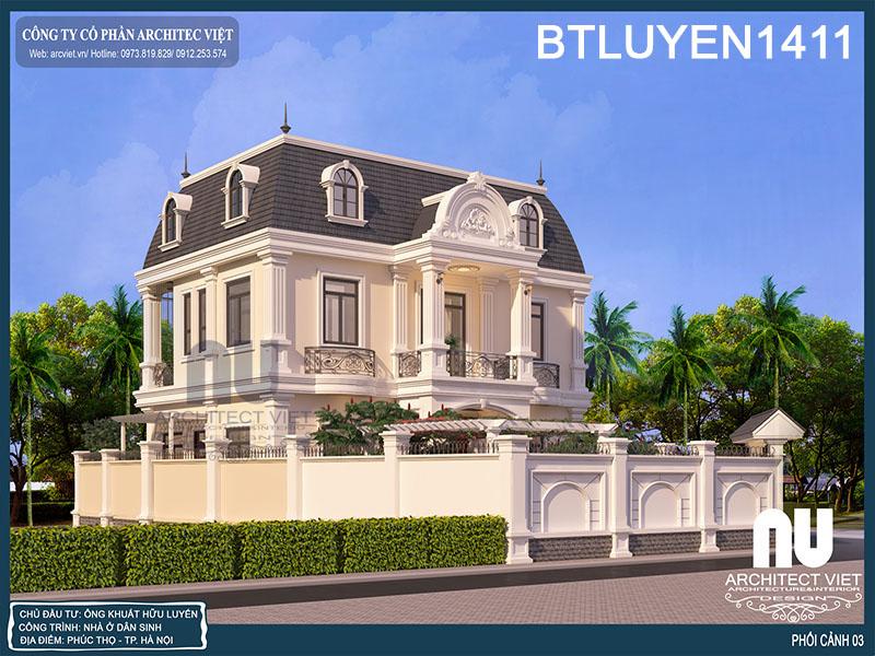 tư vấn thiết kế biệt thự Pháp