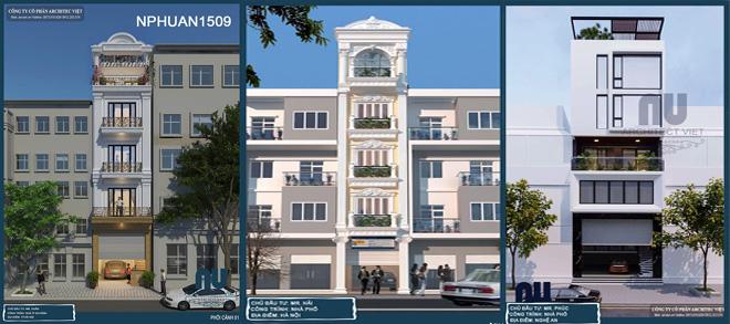 Bản vẽ phối cảnh nhà phố 5 tầng