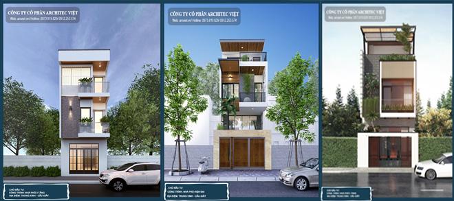 Nhà phố 3 tầng với thiết kế hiện đại