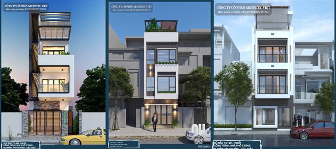 Nhà phố 3 tầng do Architec Việt thiết kế