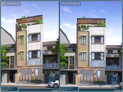 nhà phố hiện đại 3 tầng 40m2 với ngoại thất sang trọng