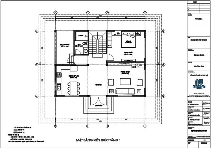 Các khu vực chức năng trong ngôi nhà được sắp xếp khoa học, hợp lý trong biệt thự tân cổ điển 2 tầng