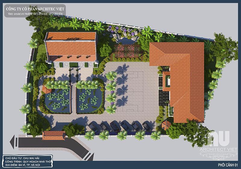 thiết kế nhà vườn 2 tầng hiện đại 310m2