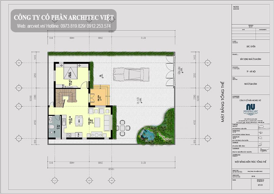 bố trí công năng tầng 2 nhà 2 tầng chữ L 63m2