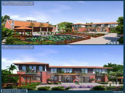 phương án thiết kế nhà vườn 2 tầng hiện đại 310m2