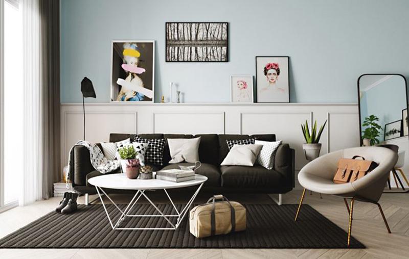 nhà ở 2019 với đồ nội thất tối giản