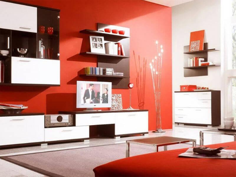 người mệnh Hỏa nên sơn phòng khách màu đỏ