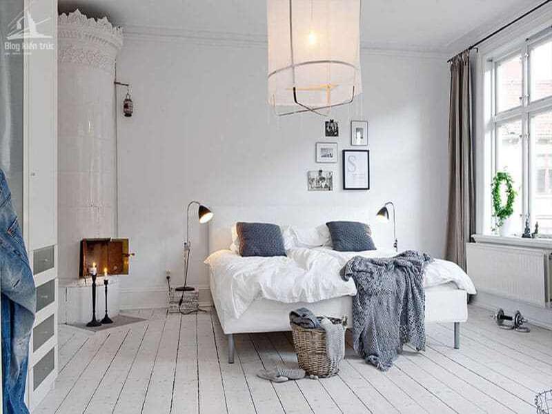 ánh sáng là yếu tố không thể thiếu của mẫu phòng ngủ phong cách Scandinavian