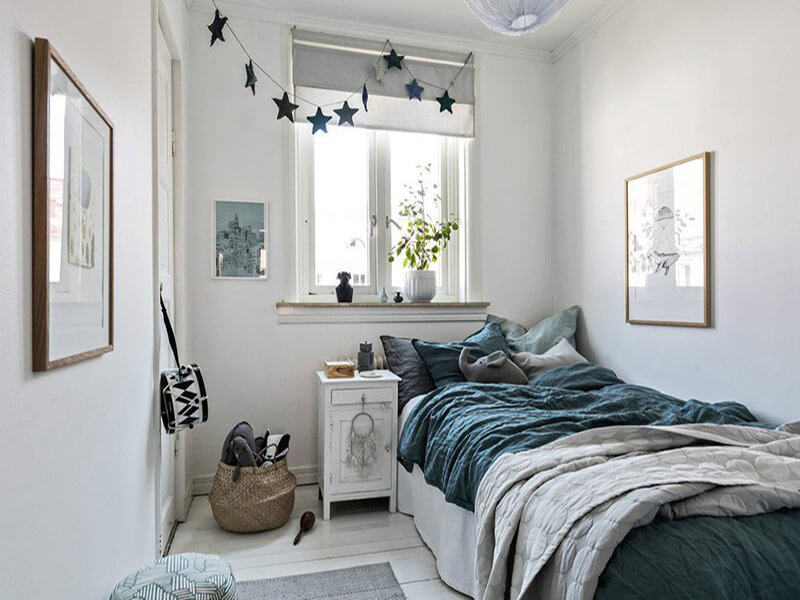 bố trí nội thất phòng ngủ phong cách Scandinavian một cách hài hòa