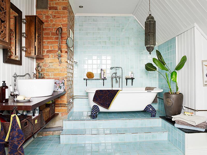 Phòng tắm thiên nhiên cảm hứng từ biển xanh