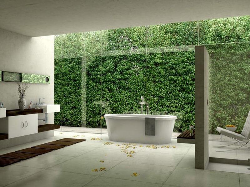 Độc đáo hơn với mẫu phòng tắm thiên nhiên đầy sáng tạo