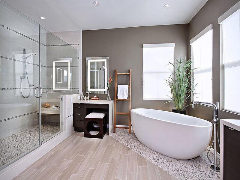 phòng tắm nên lựa chọn nội thất chống trơn trượt để đảm bảo an toàn cho người dùng