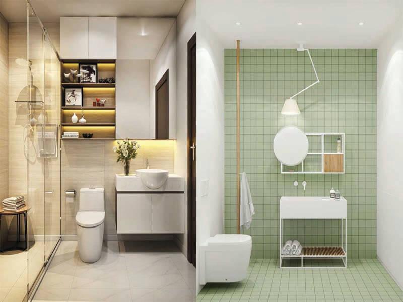 phòng tắm phải đảm bảo sự phù hợp với không gian chung
