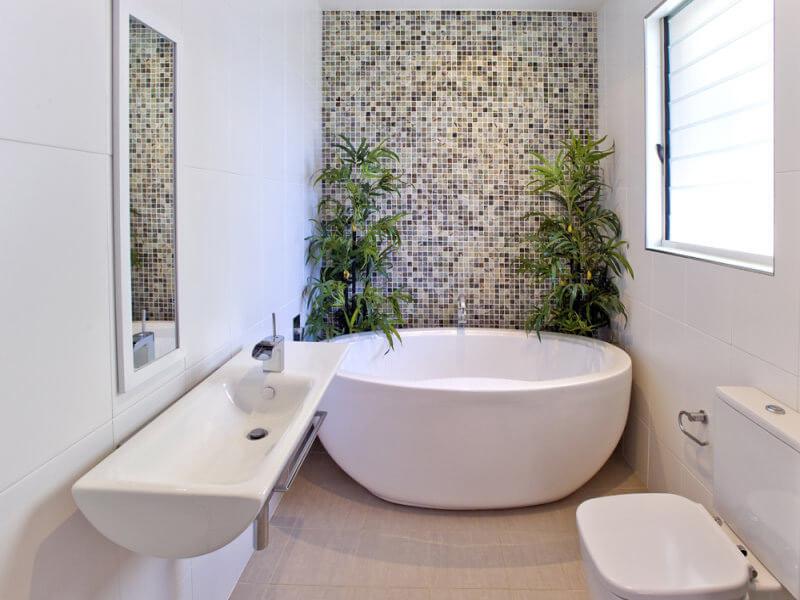 không gian nhà tắm tận dụng tối đa ánh sáng tự nhiên