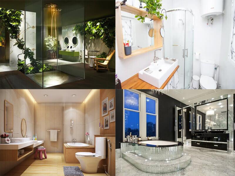 bố trí nội thất hài hòa tiện nghi trong mẫu nhà tắm hiện đại