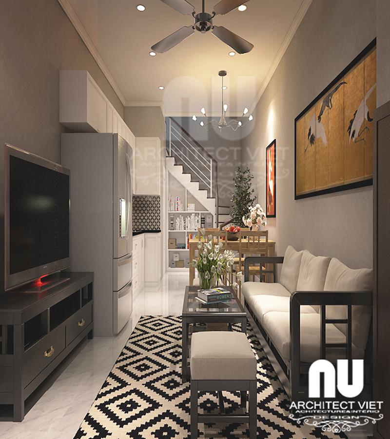 nội thất sang trọng, hiện đại từ mẫu thiết kế nhà 30m2 4 tầng