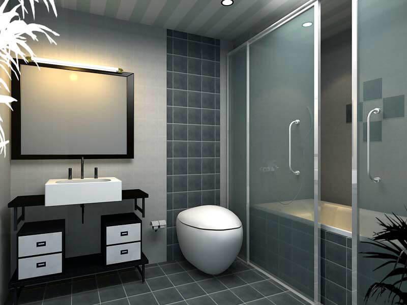 mẫu nhà tắm phong cách hiện đại, trẻ trung