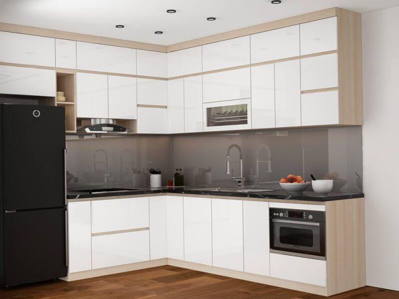 gam màu đen - trắng khiến nội thất nhà bếp nhỏ bừng sáng