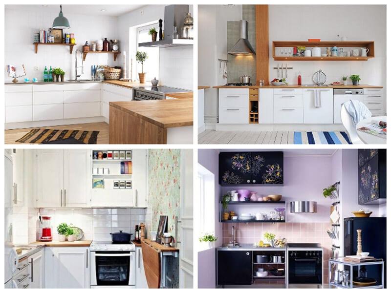 mẫu nhà bếp nổi bật với các điểm nhấn, hoa văn bắt mắt