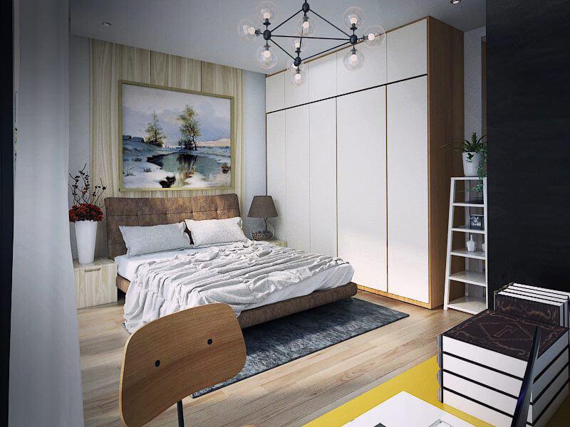không gian phòng ngủ nổi bật với nội thất hiện đại