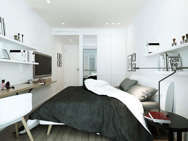 mẫu phòng ngủ hiện đại bố trí nội thất đẹp mắt
