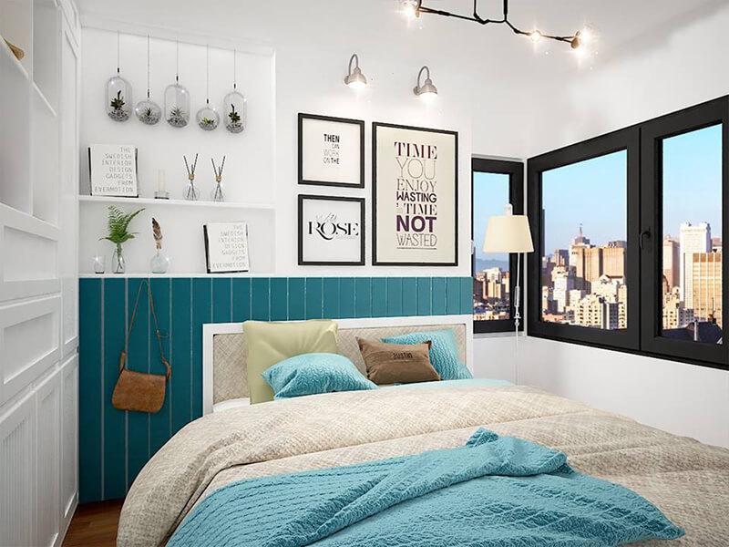 thiết kế nội thất phòng ngủ phong cách hiện đại