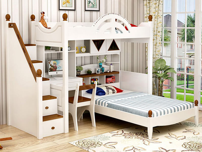 mẫu phòng ngủ tiện nghi, nội thất phù hợp cho bé gái