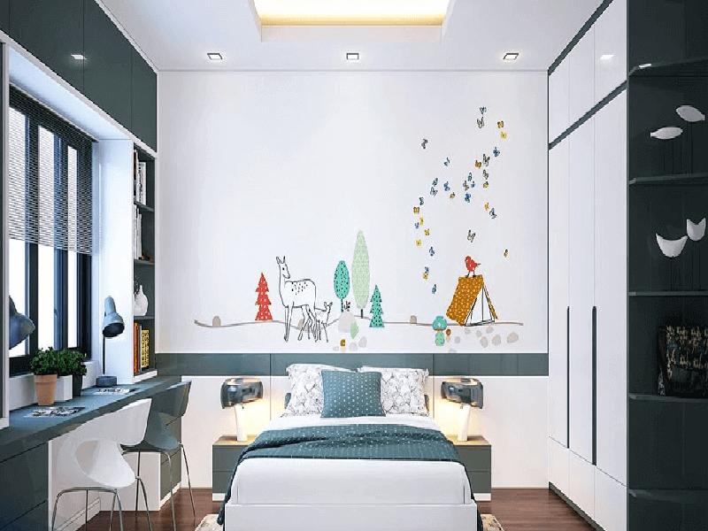thiết kế phòng ngủ bé gái cần chú ý về ánh sáng