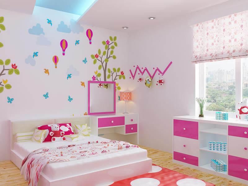 không gian phòng ngủ với các gam màu tinh tế, cuốn hút