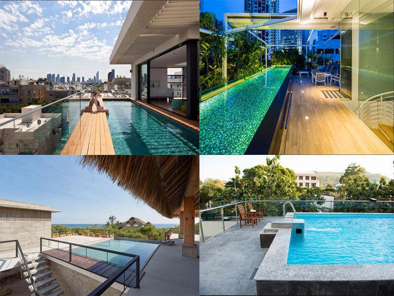 khu bể bơi đầy lý tưởng ngay trên sân thượng